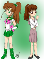 Sailor Jupiter and Makoto Live action by SailorBomber