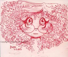 Curly Haired Glasses Girl by WendyFae