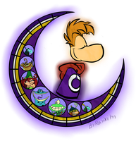 Stained glass: Rayman by Rayxim