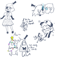 Gravity Falls doodles...again! by xEnderQueenx