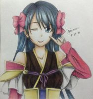 Niwa Nagahide~Colored Drawing by FrownedClown