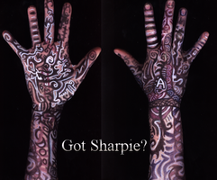 Got Sharpie -question mark- by dragonfly272