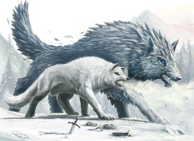 Winter Wolves by BenWootten