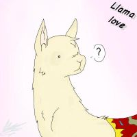 Llama love by The-Chibster