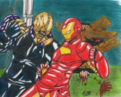 IronMan Vs Nemesis by manux1220