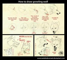 Growling wolf tutorial by NatalieDeCorsair