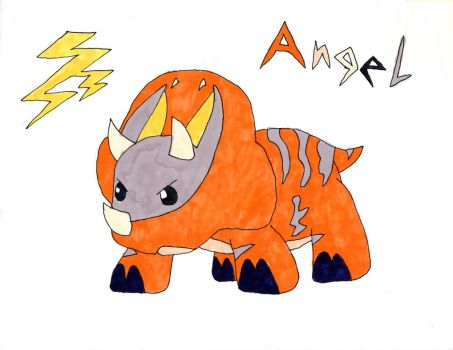 Angel - Pentaceratops by Aubrie1234