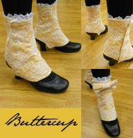 Buttercup Lady's Spats by velvetgoldmineee