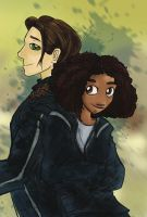 Katniss and Rue by Kna
