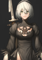 2B the YoRHA without eye patch by AHDorKveLL
