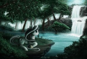 Commission: Eclipse in the forest by Onyrica