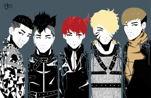 Bigbang Monster Poster! Done by Angrypanda-Gin
