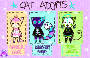 CAT ADOPTABLES - 0PEN by CATGUTTS