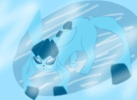 Glaceon on Ice by strangmusicobsession
