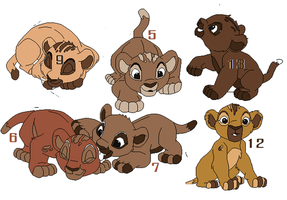 Lion Cub Auction ~ Need Homes OPEN by Foreverloved525