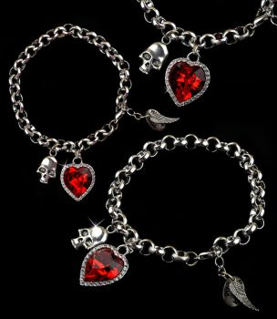 Ruby Heart Bracelet by francescadani