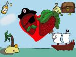 Just Pirate Strawberry Love by MagicWitch123