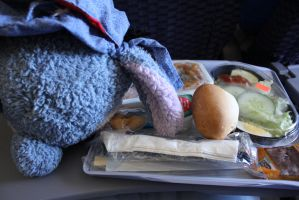 Eating on the plane by meikko