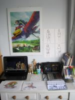My Work-space (updated) by anime-wolf-fan-girl