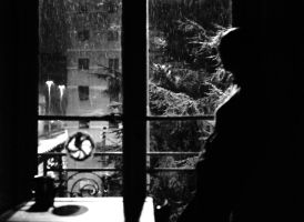 Rain at the Window by magoscuro