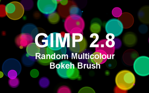 GIMP 2.8 Random Multicolour Bokeh Brush by billps
