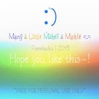 Many a Little Makes a Mickle Dot Font by Poemhaiku
