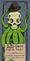 Skull squid with hat by Tonito292