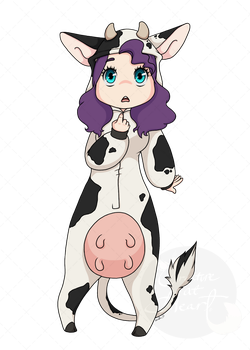 Cow by CreatureAtHeart