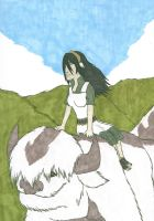 2009: Toph and Appa by Imperius-Rex