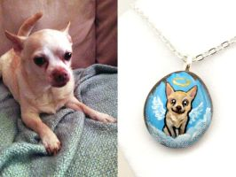 Custom Chihuahua Pendant Necklace by sobeyondthis