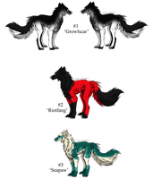 Fluffy Wolf Adopts! - Adopted by Feralx1