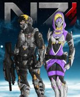 J Shepard and Tali Zorah by K-o-v-u