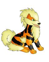Digital arcanine by animepegasus