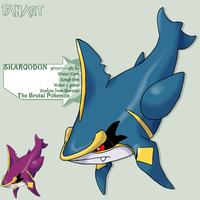 Prize 1: Sugi-esque Shargodon by G-FauxPokemon