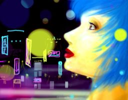 In the Glow City by Button-the-random