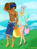 [Midheaven RPG] Summer event - Freya and Mantios by Mylodnih
