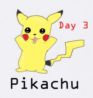 Day 3- Lightning PKMN by AubArt