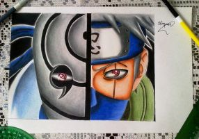 Obito vs Kakashi by powre