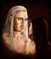 King and his lady by MorgainLaFey