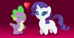 Mini Spike and Rarity love by AleximusPrime