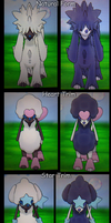 Pokemon XY - All Furfrou Trims! (Normal + Shiny) by Sapphiresenthiss