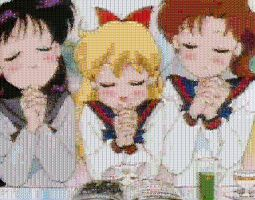 Sailor School Girls Mosaic by smallrinilady
