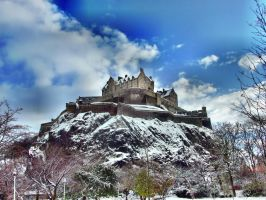 Edinburgh Castle in Winter by heresjohnny999