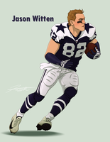 Dallas Cowboys- Jason Witten 82 by DJCoulz
