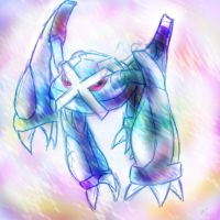 Metagross giving away a show by Blue-Uncia