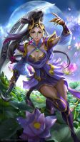 League of Legends fanart - Lunar Goddess by derrickSong