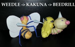 WEEDLE  KAKUNA  BEEDRILL EVOLUTION by Adisko