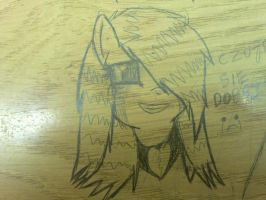 RW on Table in my school :| by sarafina10