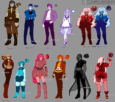 Spring 2015 custom gemsona adopts by azume-adopts