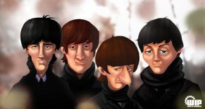 The Beatles by elmorafocka